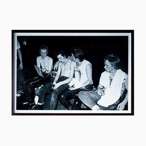 Large Photo Sex Pistols Backstage by Dennis Morris, 1970s