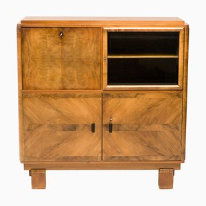 Art Deco Cabinet in Burl Walnut, 1920s