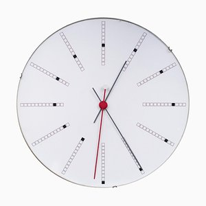 Large Bankers Wall Clock by Arne Jacobsen, 1971