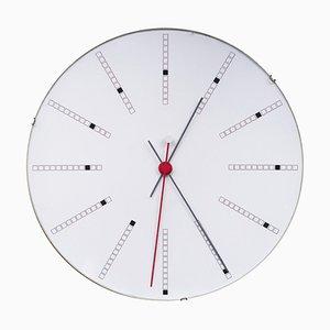 Orologio da parete grande Bankers di Arne Jacobsen, 1971