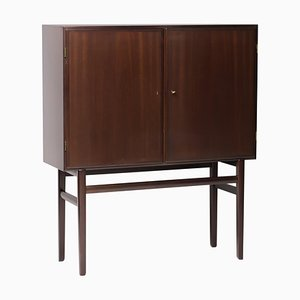 Danish Mahogany Bar Cabinet by Ole Wanscher, 1950s
