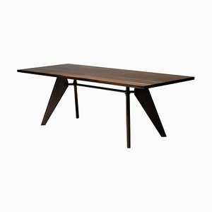 Smoked Oak Table Solvay by Jean Prouvé, 2013