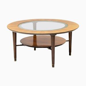 Italian Walnut Coffee Table, 1950s