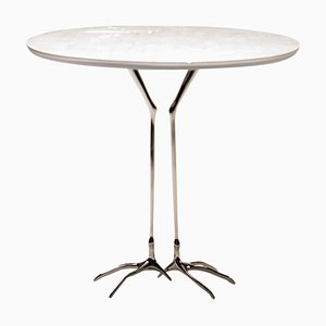 White Gold Traccia Table by Meret Oppenheim, 2016