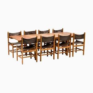 Set Table de Salle à Manger & Chaises par Erik Wørts, 1972, Set de 9