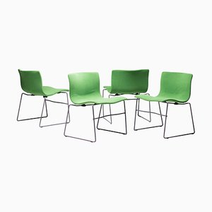 Handkerchief Dining Chairs by Massimo and Lella Vignelli for Knoll, 1980s, Set of 4