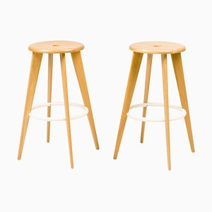 Tabouret Haut Barstools by Jean Prouvé, 2002, Set of 4