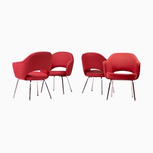 Executive Armchairs by Eero Saarinen for Knoll International, 1970s, Set of 4