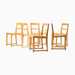 Stacking Chairs by Sven Markelius, Set of 6