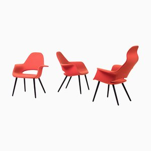 Organic Chairs by Charles Eames & Eero Saarinen, 2012, Set of 3