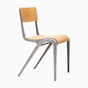 Industrial Cast Aluminium Chair by James Leonard, 1948