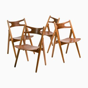 Sawbuck Stühle von Hans J. Wegner, 1952, 4er Set