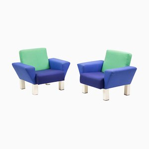 Westside Armchairs by Ettore Sottsass for Knoll, 1980s, Set of 2