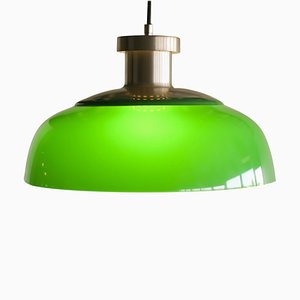 Green 4017 Pendant Lamp by Achille Castiglioni for Kartell, 1959