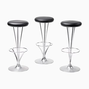 Barstools by Piet Hein for Fritz Hansen, 1970s, Set of 3