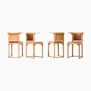 Cabaret Fledermaus Chairs by Josef Hoffmann, 1992, Set of 4