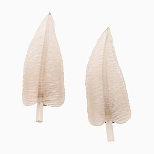 Large Feather Sconces by Archimede Seguso, 1940s, Set of 2