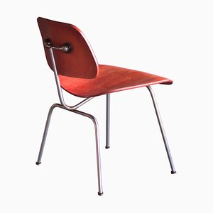 Red Aniline Dye DCM Chair by Charles Eames for Herman Miller, 1954