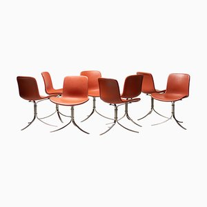 OK9 Chairs by Poul Kjærholm for Fritz Hansen, 2012, Set of 8