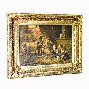 Peinture à l'Huile sur Toile de Silbert, 1800s