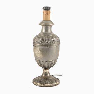 Lampe de Bureau en Bois et Métal Argenté, 1900s