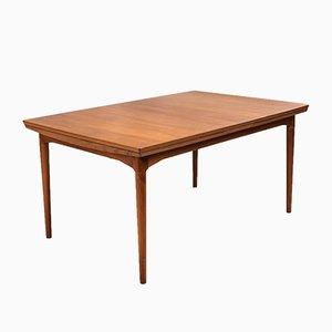 Mesa de comedor danesa extensible de teca de Arne Vodder para Cado, años 60