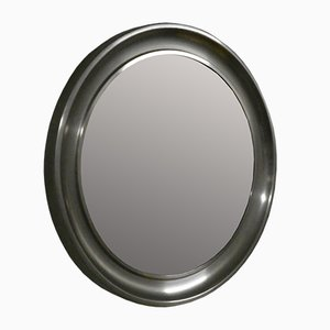 Round Steel and Glass Mirror from Officina di Ricerca, 1960s