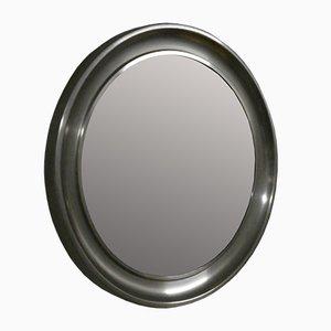 Runder Spiegel aus Stahl & Glas von Officina di Ricerca, 1960er