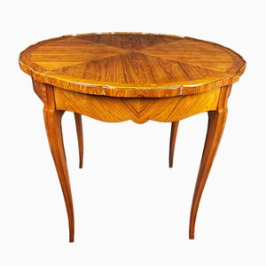 19th Century Louis XV Style Italian Rosewood Pedestal Table