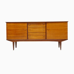 Small Walnut and Teak Sideboard by Alfred Cox, 1960s