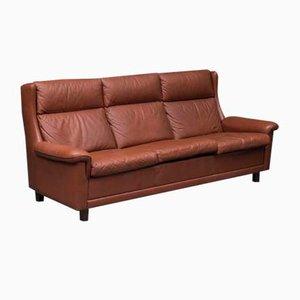 Dänisches 3-Sitzer Sofa mit Hoher Rückenlehne, 1970er
