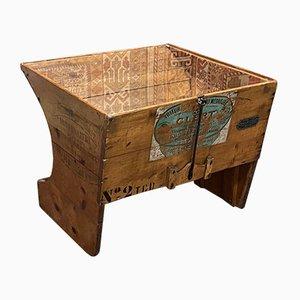 Mesa de centro vintage de madera de pino
