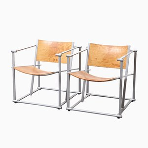 Vintage Model FM62 Cubic Chairs by Radboud Van Beekum for Pastoe, 1980s, Set of 2