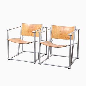 Würfelförmige Vintage Modell FM62 Stühle von Radboud Van Beekum für Pastoe, 1980er, 2er Set
