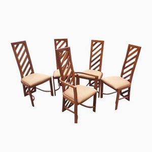 Brasilianische Esszimmerstühle, 1970er, 5er Set