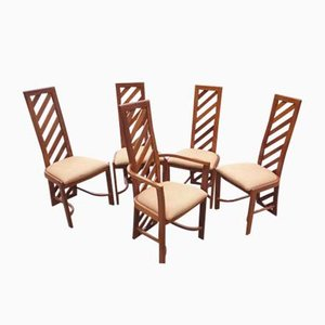 Brazilian Dining Chairs, 1970s, Set of 5