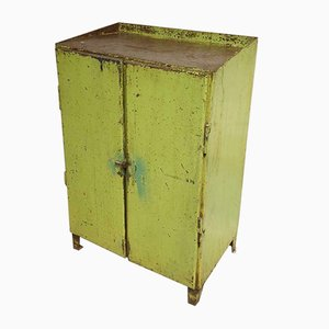 Industrial Green Steel Chest of Drawers, 1960s