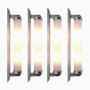 Large Bauhaus Sconces, 1930s, Set of 4