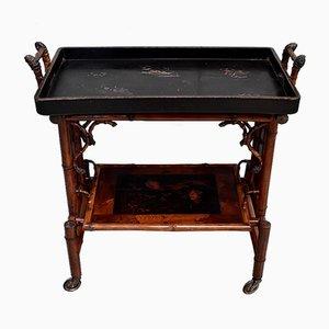 Carrello piccolo antico in bambù e vernice nera di Perret et Vibert