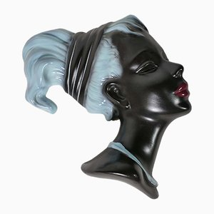 Nr. Mid-Century Sculpture Tête de Femme 3440 de Cortendorf, 1960s