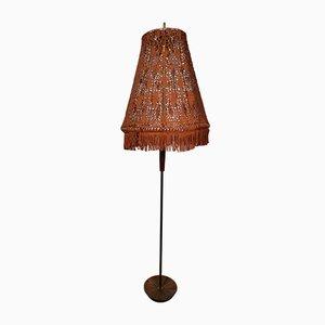 Lámpara de pie Mid-Century de teca, años 60