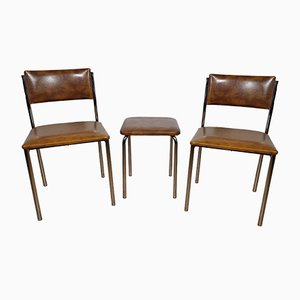 Mid-Century Tubular Steel Dining Chairs, 1960s, Set of 3