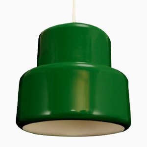 Mid-Century Danish Green Metal Ceiling Lamp by John Hammerborg for Fog & Morup