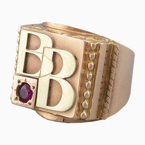 Ring aus 14 Karat Gold, 1960er