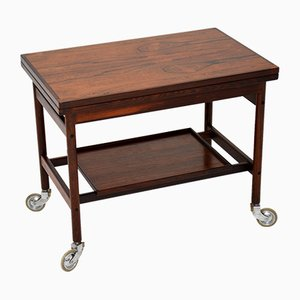 Danish Rosewood Bar Trolley by Kurt Ostervig, 1960s