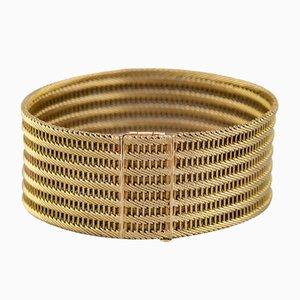 Pulsera italiana de oro de 18 quilates, años 60
