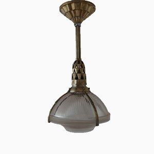 Lampe à Suspension Art Déco en Bronze par Émile-Jacques Ruhlmann, 1920s
