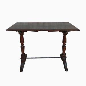 Tavolo da bistrò antico in quercia