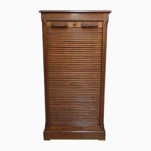 Mueble de roble con puerta de persiana, años 30