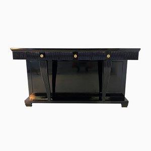 Consola italiana Art Déco de latón en negro, años 40